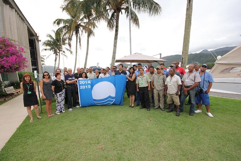 A Bandeira Azul e os convidados da cerimônia